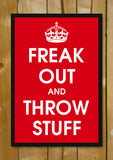 Glass Framed Posters, Freak Out And Throw Stuff Glass Framed Poster, - PosterGully - 1