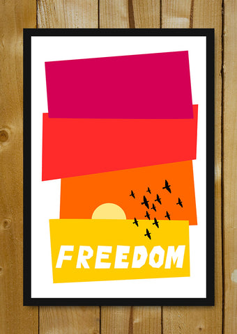 Glass Framed Posters, Freedom Pop Art Glass Framed Poster, - PosterGully - 1
