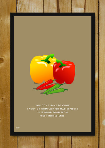 Glass Framed Posters, Fresh Ingredients Glass Framed Poster, - PosterGully - 1