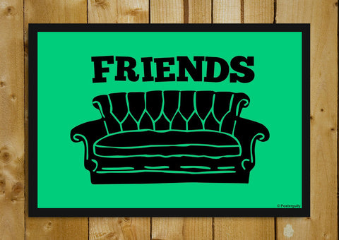 Glass Framed Posters, Friends Sofa | Pop Color | Glass Framed Poster, - PosterGully - 1