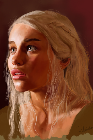 PosterGully Specials, Game Of Thrones : Daenerys Targaryen Wall Art | Artist : Debdut Mukhopadhyay, - PosterGully
