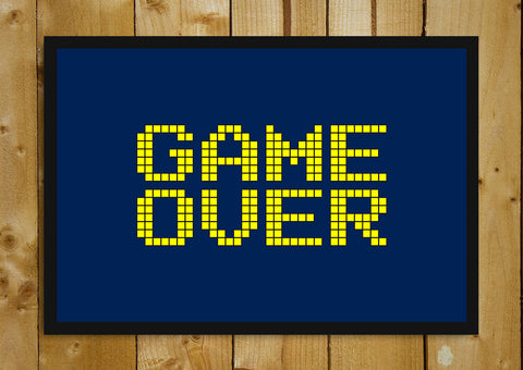 Glass Framed Posters, Game Over Glass Framed Poster, - PosterGully - 1