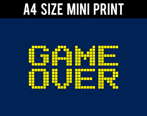 Mini Prints, Game Over | Mini Print, - PosterGully