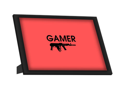 Framed Art, Gamer Gun Framed Art, - PosterGully