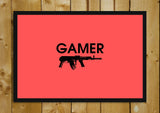 Glass Framed Posters, Gamer Gun Glass Framed Poster, - PosterGully - 1