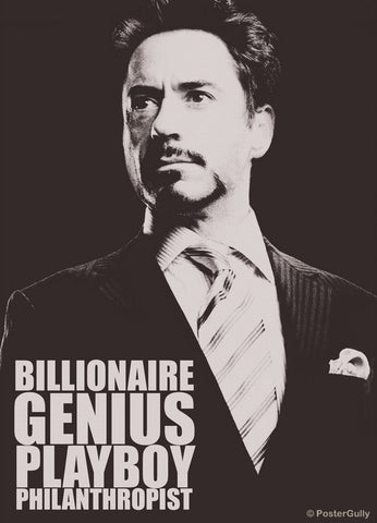 PosterGully Specials, Genius. Playboy | Iron Man, - PosterGully