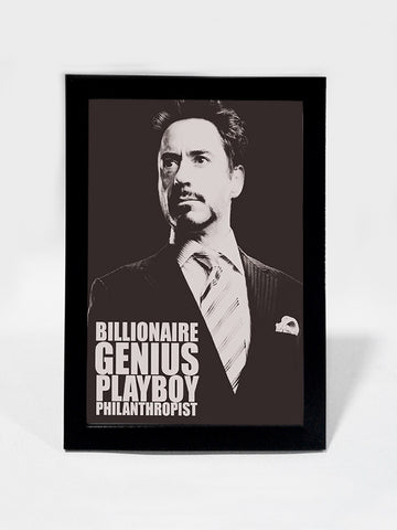 Framed Art, Genius. Playboy Iron Man | Framed Art, - PosterGully