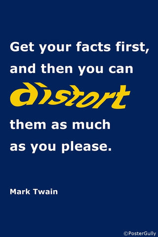 PosterGully Specials, Get Facts Right | Mark Twain Quote, - PosterGully