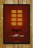 Glass Framed Posters, Ghajini Minimal Bollywood Art Glass Framed Poster, - PosterGully - 1