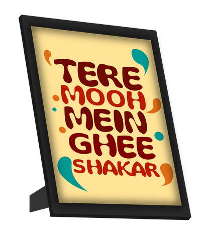 Framed Art, Ghee Shakar Humour Framed Art, - PosterGully