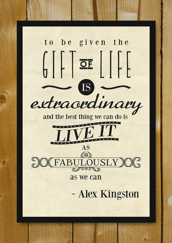 Glass Framed Posters, Gift Of Life Alex Kingston Glass Framed Poster, - PosterGully - 1