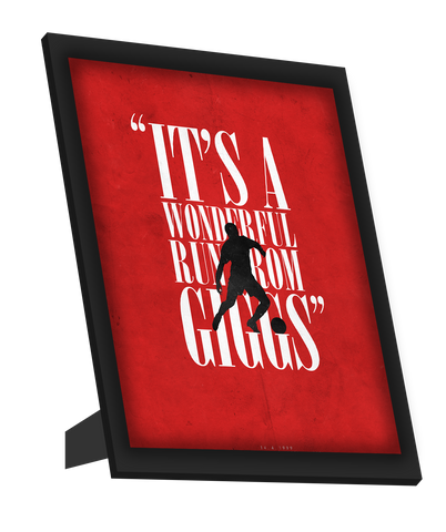 Framed Art, Giggs Scores | Minimal Football Art Framed Art, - PosterGully