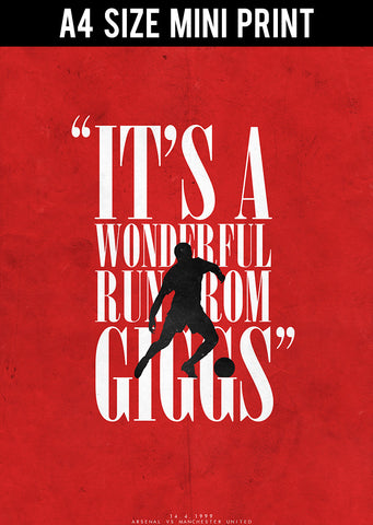 Mini Prints, Giggs Scores | Minimal Football Art | Mini Print, - PosterGully