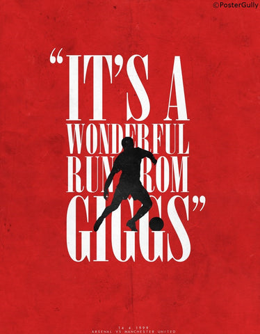 Wall Art, Giggs Scores | Minimal Football Art, - PosterGully