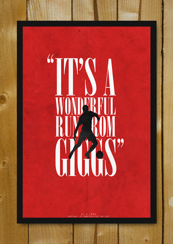 Glass Framed Posters, Giggs Scores Minimal Football Art Glass Framed Poster, - PosterGully - 1