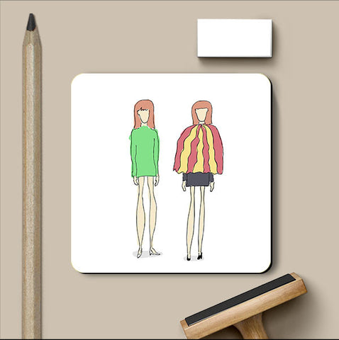 PosterGully Coasters, Girls Standing Fashion Coaster, - PosterGully