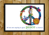 Glass Framed Posters, Give Peace A Chance Glass Framed Poster, - PosterGully - 1