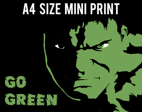 Mini Prints, Go Green | Hulk | Mini Print, - PosterGully