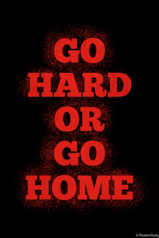 Wall Art, Go Hard | Gym Workout, - PosterGully