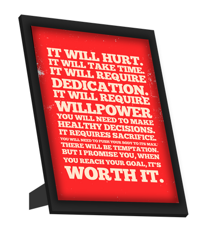 Framed Art, Goal Manifesto Motivational Framed Art, - PosterGully