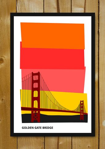 Glass Framed Posters, Golden Gate Bridge San Francisco Glass Framed Poster, - PosterGully - 1