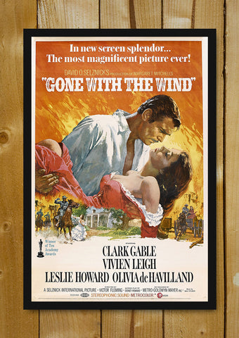 Glass Framed Posters, Gone With The Wind Glass Framed Poster, - PosterGully - 1