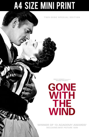 Mini Prints, Gone With The Wind | Black & Red | Mini Print, - PosterGully