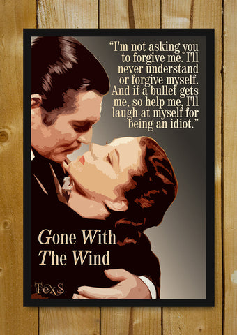 Glass Framed Posters, Gone With The Wind Quote Glass Framed Poster, - PosterGully - 1