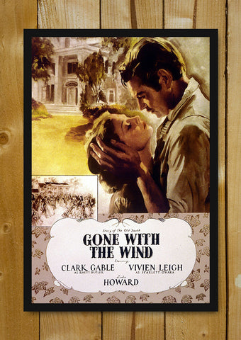 Glass Framed Posters, Gone With The Wind Vintage Movie Collection Art Glass Framed Poster, - PosterGully - 1