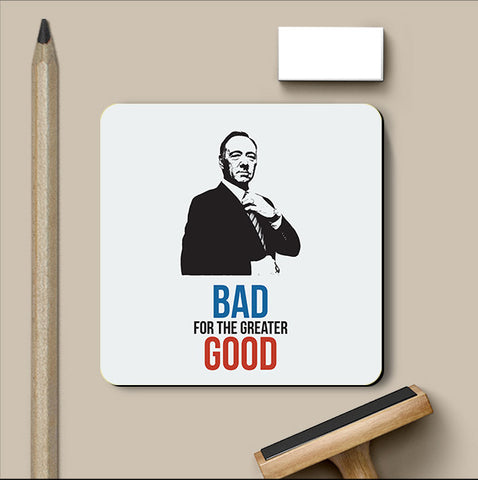 PosterGully Coasters, House of Cards Good & Bad Coaster | Artist: Rohit Malhotra, - PosterGully