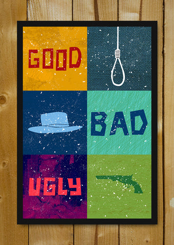 Glass Framed Posters, Good Bad Ugly Objects Glass Framed Poster, - PosterGully - 1