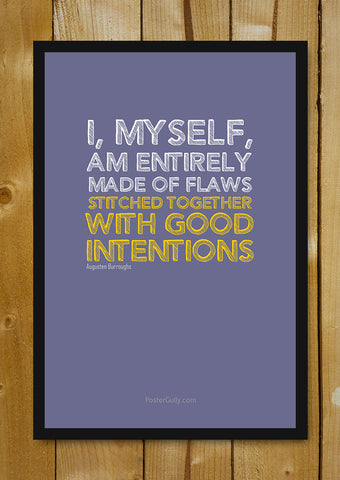 Glass Framed Posters, Good Intentions Glass Framed Poster, - PosterGully - 1