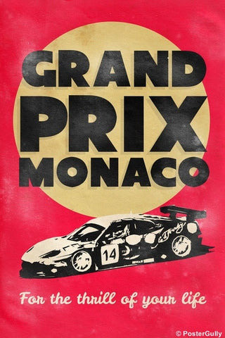 Wall Art, Grand Prix Monaco | Vintage Racing, - PosterGully