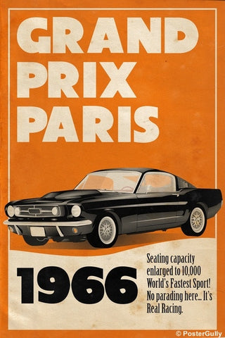 Wall Art, Grand Prix Paris 66 | Vintage Racing, - PosterGully