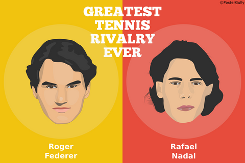 Wall Art, Greatest Tennis Rivalry Federer Nadal, - PosterGully