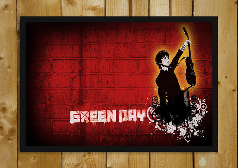 Glass Framed Posters, Green Day Artwork Glass Framed Poster, - PosterGully - 1