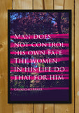 Glass Framed Posters, Groucho Marx Quote Fate Glass Framed Poster, - PosterGully - 1