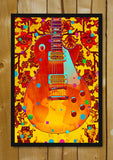 Glass Framed Posters, Guitar Abstract Artwork Glass Framed Poster, - PosterGully - 1