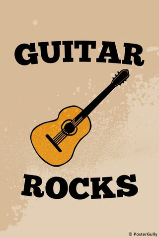 Wall Art, Guitar Rocks, - PosterGully