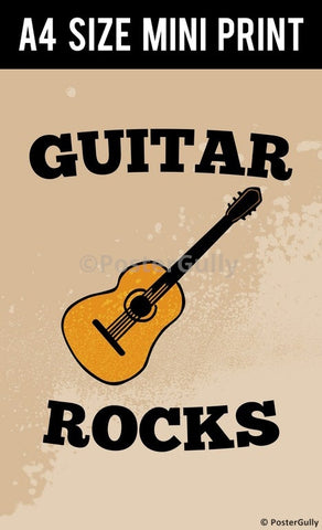 Mini Prints, Guitar Rocks | Mini Print, - PosterGully