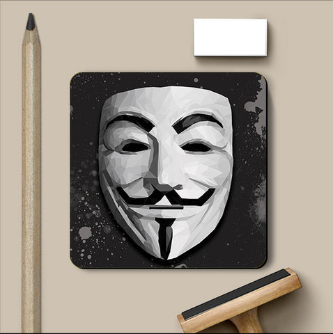 PosterGully Coasters, Guy Fawkes Coaster | Artist: Rohit Malhotra, - PosterGully