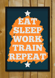 Glass Framed Posters, Gym Workout Manifesto Glass Framed Poster, - PosterGully - 1