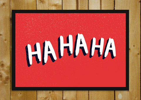 Glass Framed Posters, Ha Ha Ha Joker Laugh Red Glass Framed Poster, - PosterGully - 1