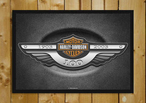 Glass Framed Posters, Harley Davidson 100 Years Glass Framed Poster, - PosterGully - 1