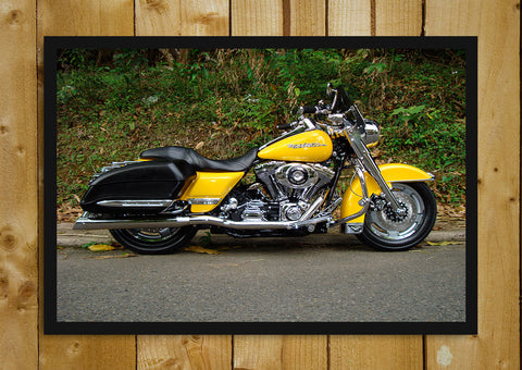 Glass Framed Posters, Harley Davidson Road King Glass Framed Poster, - PosterGully - 1