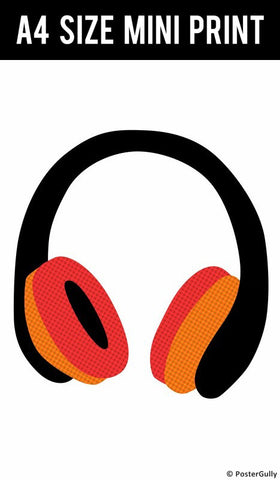 Mini Prints, Headphones Minimal  | Mini Print, - PosterGully