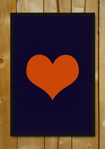 Glass Framed Posters, Heart Minimal Glass Framed Poster, - PosterGully - 1