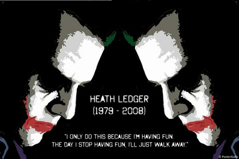 PosterGully Specials, Heath Ledger | Joker Having Fun, - PosterGully