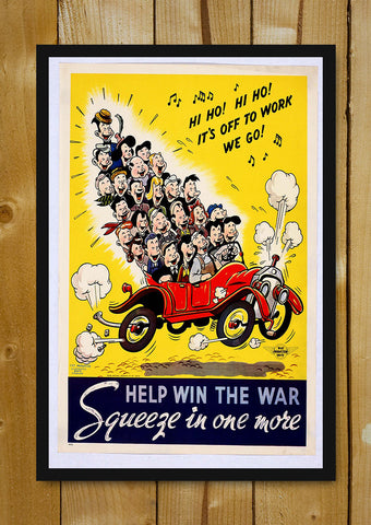 Glass Framed Posters, Help Win The War Glass Framed Poster, - PosterGully - 1