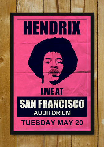 Glass Framed Posters, Hendrix Francisco Concert Glass Framed Poster, - PosterGully - 5